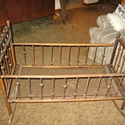 SALE Victorian Baby Cradle Great for Doll Displays