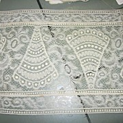 "SALE Vintage Wide Lace 7 1/2"" with Fan pattern"