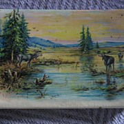 Celluloid Autograph Book with Folk Art Original Drawing