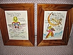 2 Nursery Rhymes Original Art Watercolor Calligraphy Cat and Fiddle Humpty Dumpty