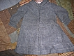 Pristine Victorian Era Baby Dress Indigo Blue Checked