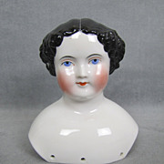 SALE c1860s China Shoulder Head Gorgeous High Glaze