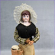 SALE German Bisque Doll Original French Fisherfolk Costume