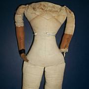 Large Antique Cloth Doll Body, Need TLC