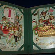 Fabulous Collection Of 100 Antique Children Holiday Post Cards in Album