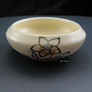 Poole Pottery Hand Painted Floral Trinket Bowl