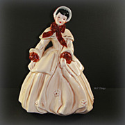 Florence Abigail Beige & Chestnut Figurine by Florence Ceramics Pasadena CA