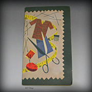 Litho of Dressmakers Items Advertising Needle Book for Buckley & Scott Oil Inc Providence RI