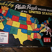 """Teach a Toy"" Inlaid Map of the United States"