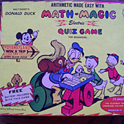 Walt Disney's Math Magic Quiz Game