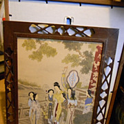 SOLD Japanese Water Color in Deco Frames