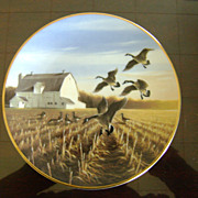Canada Geese in the Autumn Field Ducks Unlimited Classic Waterfowl Plates Series
