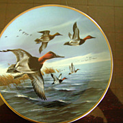 Canvasbacks Breaking Away Ducks Unlimited Classic Waterfowl Plate Series