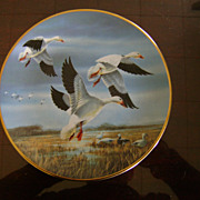 Snow Geese Against the Nov Skies Ducks Unlimited Classic Waterfowl Plate Series