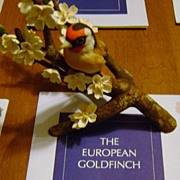 REDUCED The European Goldfinch from the Franklin Mint & RSPB