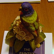 REDUCED The Painted Bunting Figurine from the Franklin Mint & RSPB