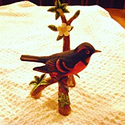 REDUCED The Varied Thrush Figurine from The Danbury Mint Songbird Series