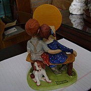 Norman Rockwell Porcelain Figurines Collection  Young Love