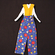 Vintage Barbie-size Clone One-piece Jumpsuit, c. 1970s