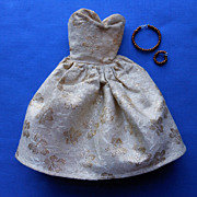Vintage Gold/ Beige Brocade Dress for Barbie/Tammy/Tressi