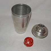 SALE Aluminum 3 Piece Shaker / Mixer Red Top
