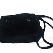 SALE Black Swede Hand Bag or Purse
