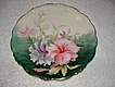 SALE Beautiful  Hand Painted HIBISCUS, Limoges Signed Plate  1900-1914