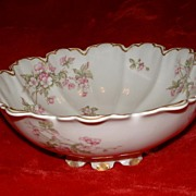 SALE Antique, Haviland & Co, Limoges Serving Bowl, France