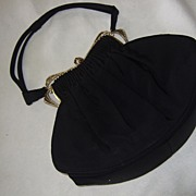SALE Vintage Guild Original Handbag & Accessories: Black & Rhinestones