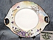 Jean J. Pouyat Limoges France, Floral Handled Cake Plate