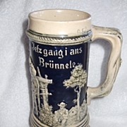 REDUCED German Beer Mug / Stein, Jefz gang i ans Brunnele & Numbered