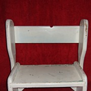SOLD Vintage Child's Wooden Step Stool / Chair / Bench