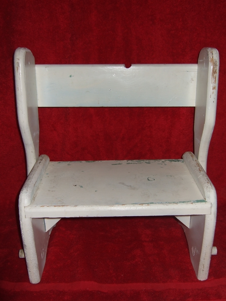Vintage Child's Wooden Step Stool / Chair / Bench