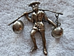 Vintage, Mexican Silver, Oriental Water Carrier Brooch Pin