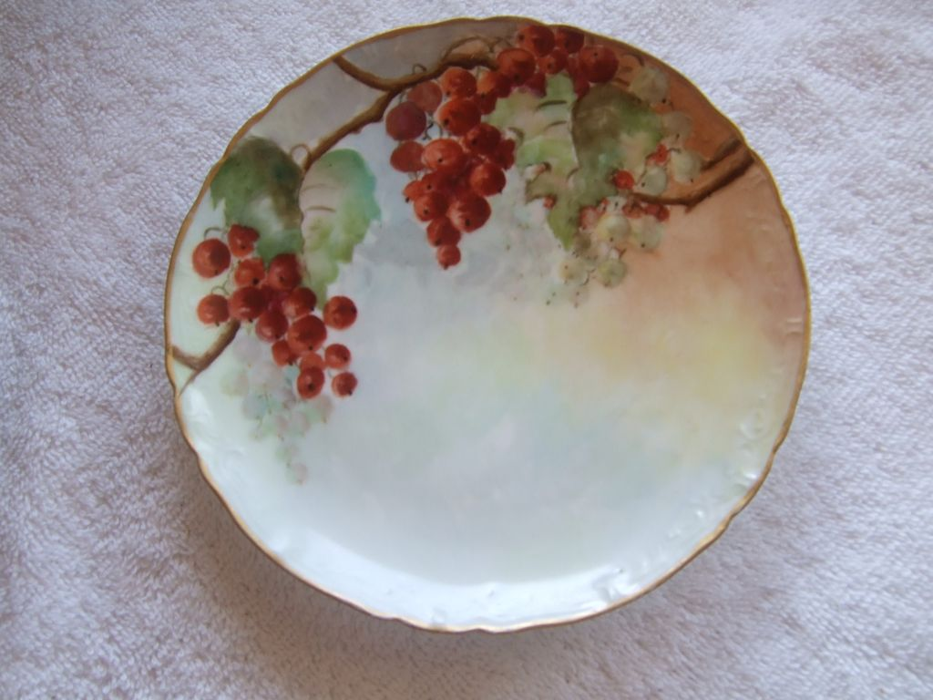 Vintage Haviland, Limoges France, China Plate With Berries