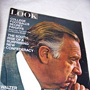 REDUCED Look Magazine, Walter Cronkite, South, Foot Ball, Nov 1970