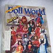 REDUCED National Doll World Magazine, Barbie Goes International, Oct 1988