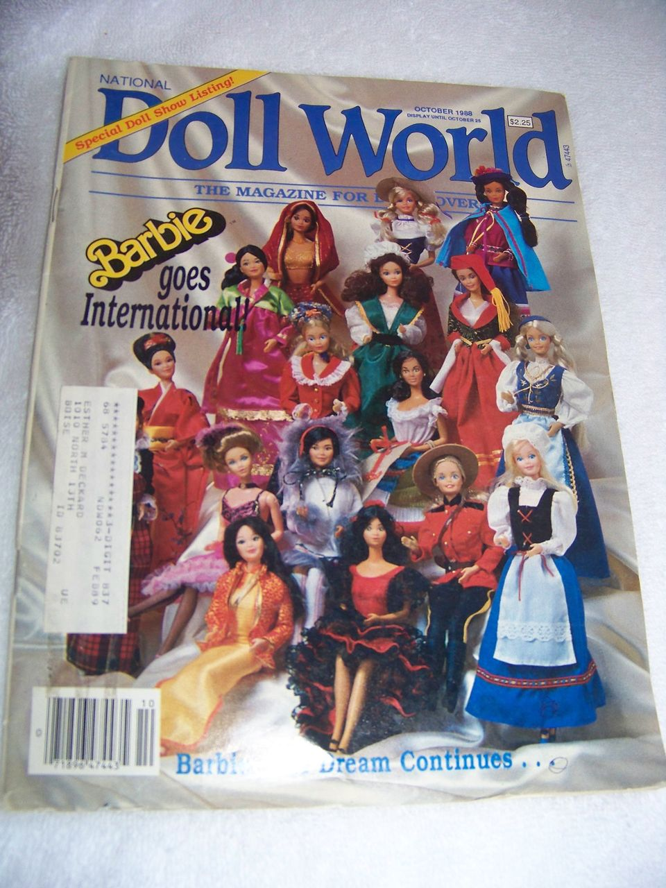 National Doll World Magazine, Barbie Goes International, Oct 1988