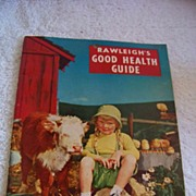 REDUCED Rawleigh's 1955 Almanac & Cook Book 1955 & Health Guide
