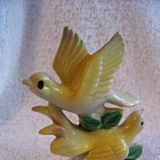 REDUCED Vintage, 2 Yellow Bird Figurine Stamp Japan