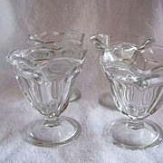 SALE 4 Anchor Hocking Sundae, Ice Cream, Sherbert Dishes or Bowls