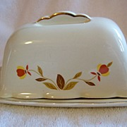 REDUCED HALL China, Autumn Leaf One Pound Butter Dish
