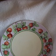 REDUCED Signed T & V Limoges HANDPAINTED, Strawberry plate