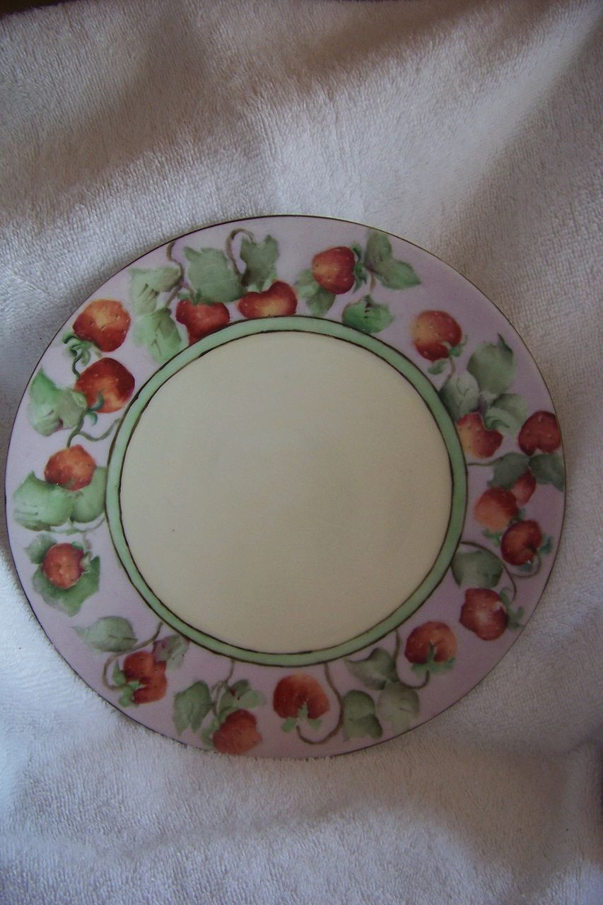 Signed T & V Limoges HANDPAINTED, Strawberry plate