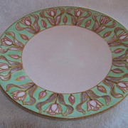 SALE JP Limoges Handpainted Tulip Plate Raised Gold Borders
