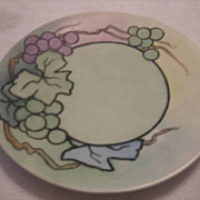 SALE Vintage KELLOGG Handpainted Art Deco Grape Plate
