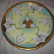 REDUCED JPL Limoges Hand Painted Orchid Plate by Stouffer China