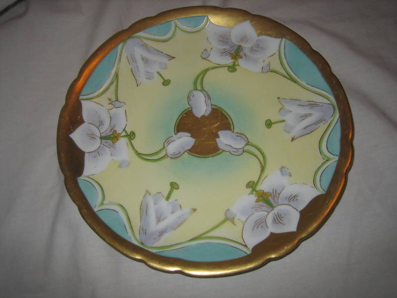 JPL Limoges Hand Painted Orchid Plate by Stouffer China