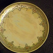 SALE Haviland Limoges Brilliant Luster Art Deco Artist Signed Plate