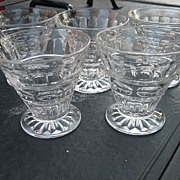 REDUCED Five FOSTORIA HERMITAGE Crystal Juice or Cocktail Tumblers